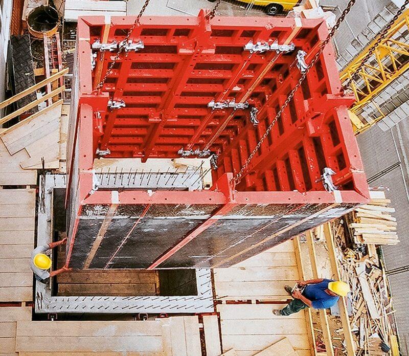 опалубка лифтовых шахт